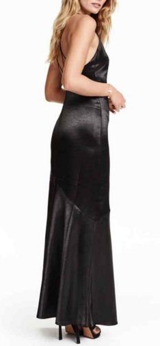 Vestido metalizado de H&M
