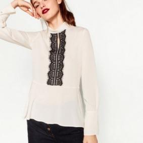 Blusa encaje Zara