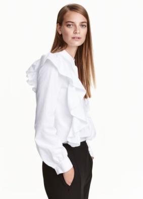 Blusa volantes H&M