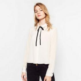 Camisa lazo Zara