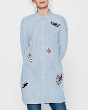 Camisa oversized parches Pull&Bear
