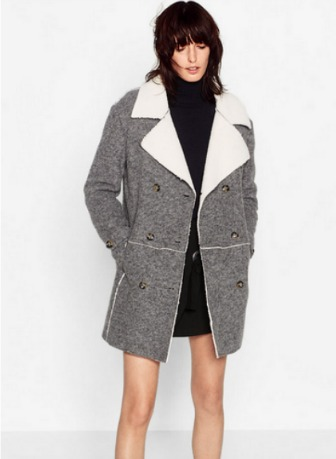 Abrigo con borrego de Zara
