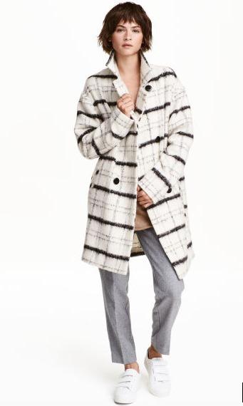 Abrigo cuadros de H&M