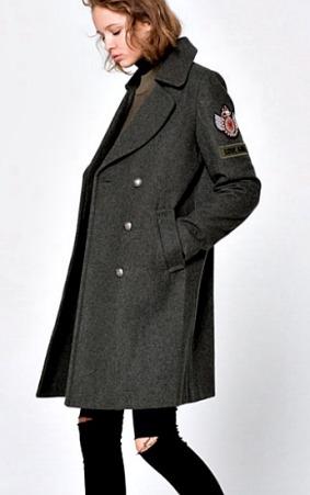 Abrigo militar de Pull & Bear