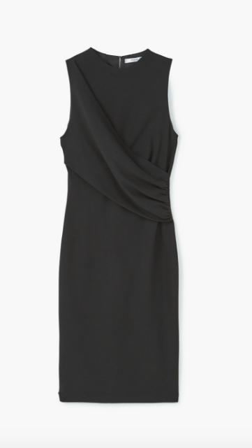 vestido-drapeado-negro